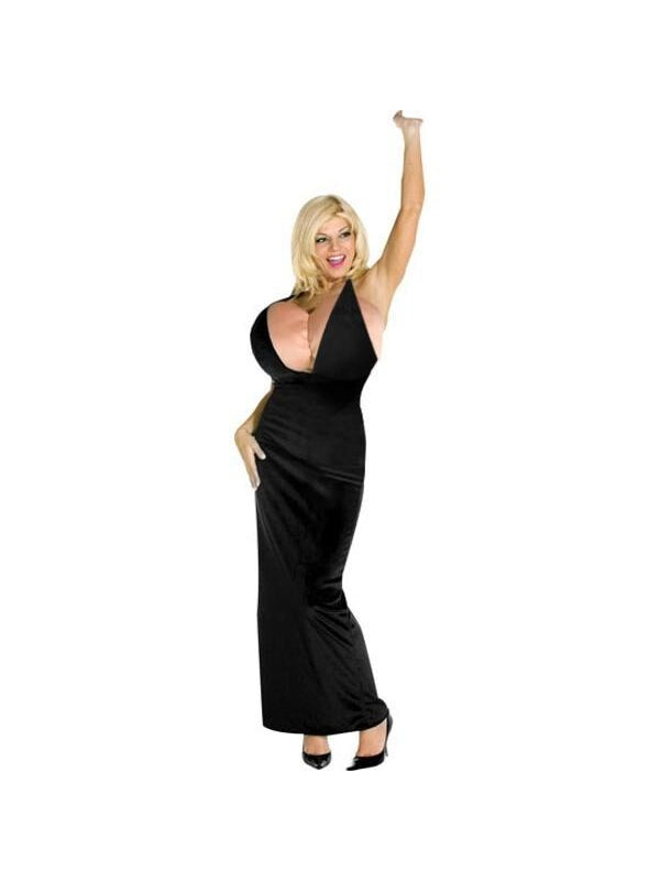 Adult Malfunction Boobs & Gown Costume-COSTUMEISH