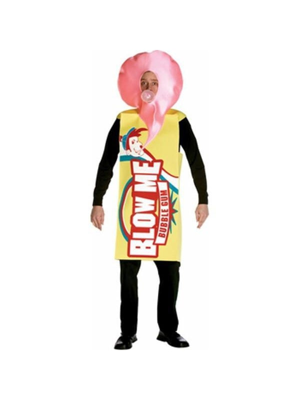 Adult Blow Me Bubble Gum Costume-COSTUMEISH
