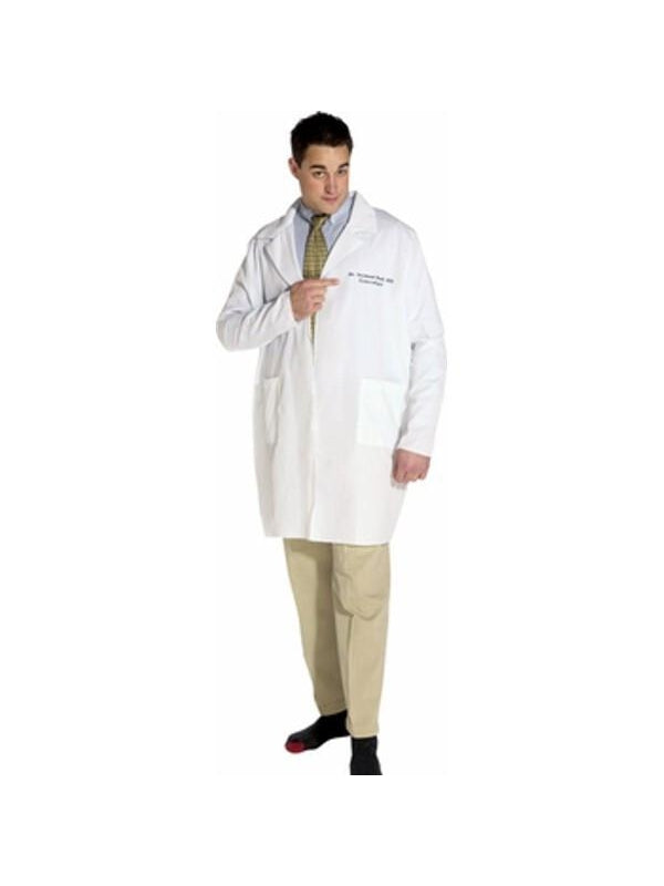 Adult Dr. Seymour Bush Gynecologist Lab Coat Costume-COSTUMEISH