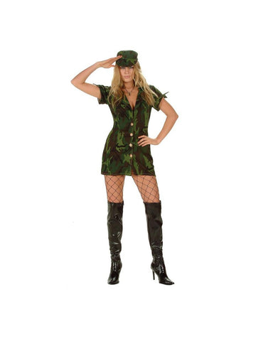 Sexy Woodland Camo GI Girl Costume-COSTUMEISH