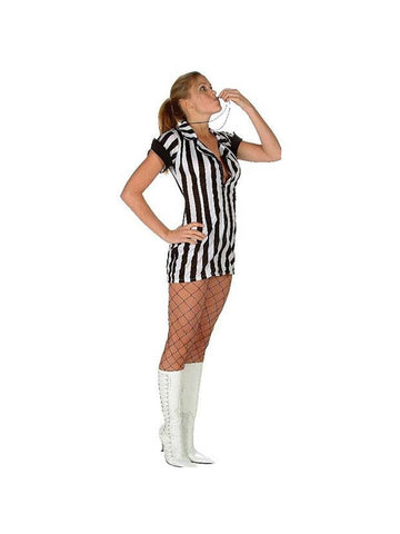 Sexy Double Zip Referee Girl Costume-COSTUMEISH