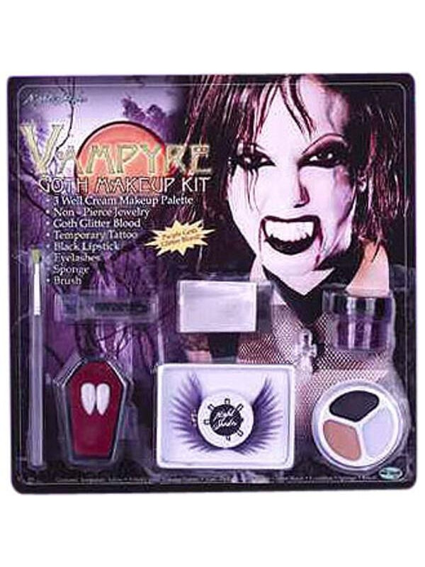 Adult Women's Vampire Fx Makeup Kit-COSTUMEISH