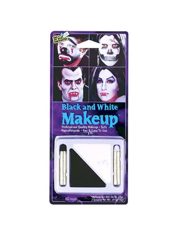 Adult Black & White Makeup Crayon Kit-COSTUMEISH