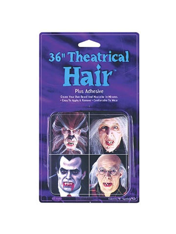 Adult Gray Theatrical Fake Hair-COSTUMEISH