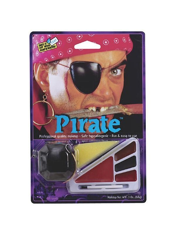 Adult Pirate Halloween Makeup Kit W/ Patch-COSTUMEISH