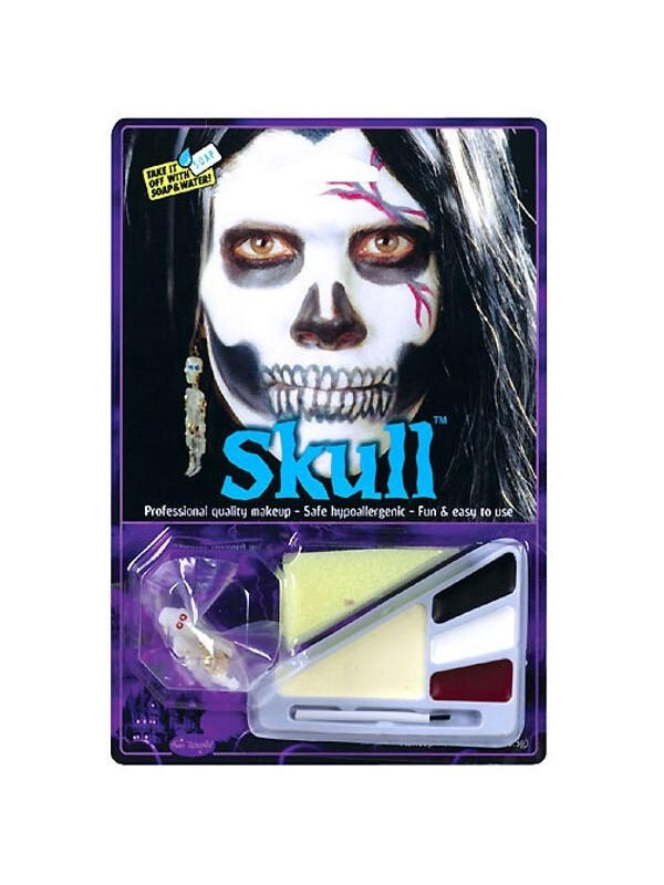 Adult Skull Halloween Makeup Kit-COSTUMEISH
