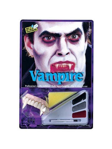 Adult Vampire Halloween Makeup Kit W/ Teeth-COSTUMEISH