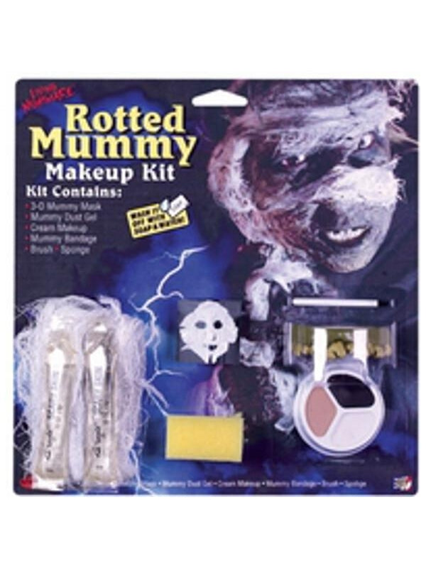 Adult Mummy Halloween Make-up Kit-COSTUMEISH