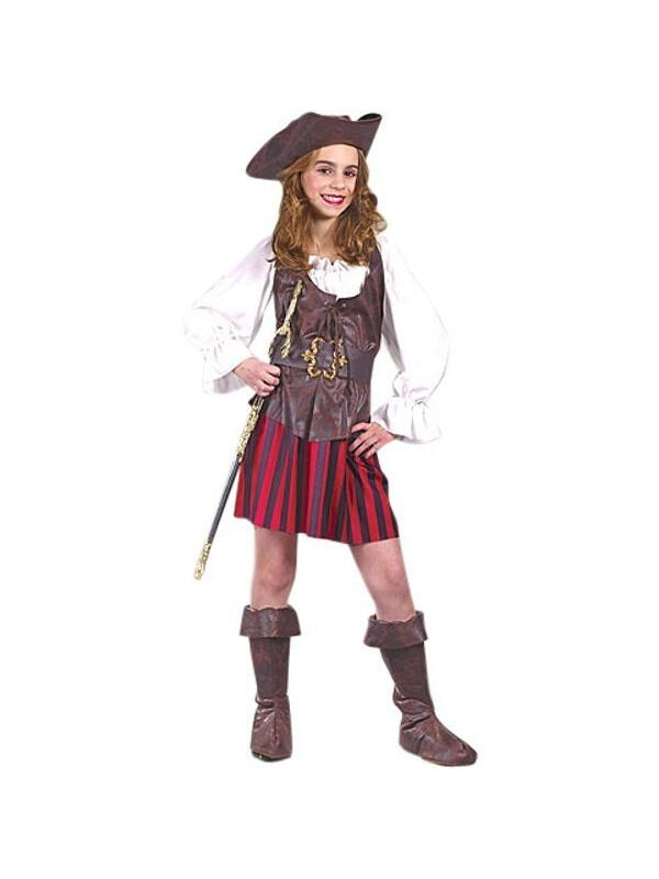 Childs High Seas Girl Pirate Costume-COSTUMEISH