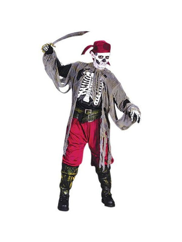 Childs Skeleton Pirate Costume-COSTUMEISH
