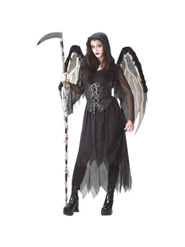 Teen Gothic Angel Costume-COSTUMEISH