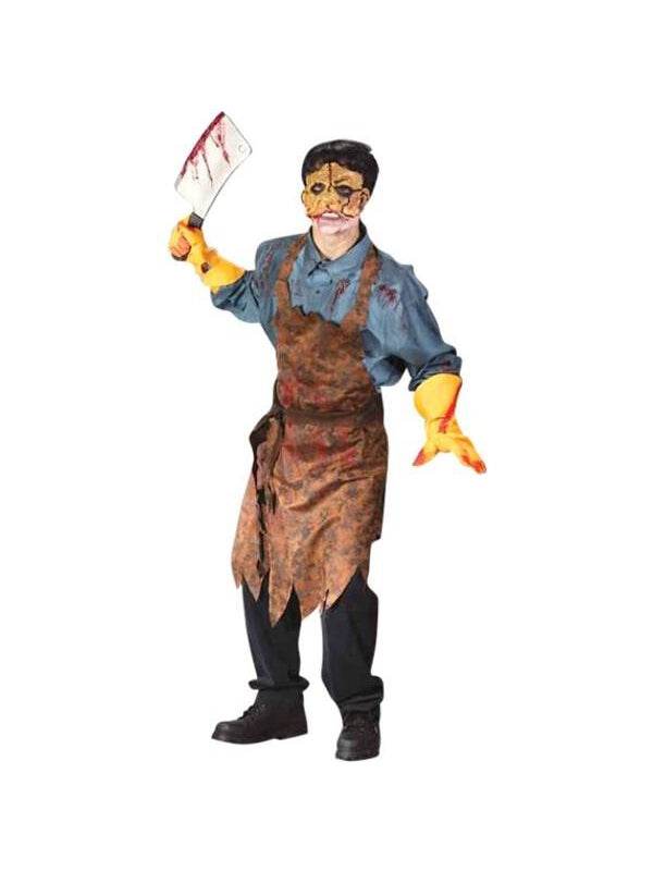 Teen Bloody Butcher Costume-COSTUMEISH