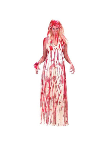 Adult Bloody Prom Dress Costume-COSTUMEISH