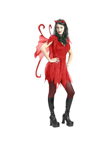 Adult Devil Fairy Girl Costume-COSTUMEISH