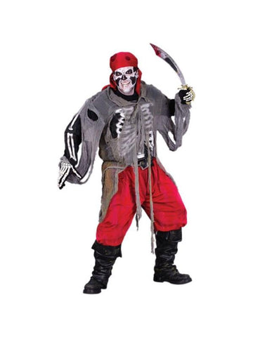Adult Skeleton Pirate Costume-COSTUMEISH