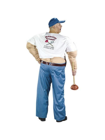 Adult Buttcrack Plumber Costume-COSTUMEISH