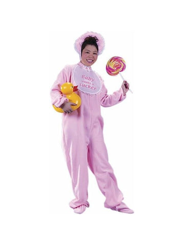 Adult Pink Baby Costume-COSTUMEISH