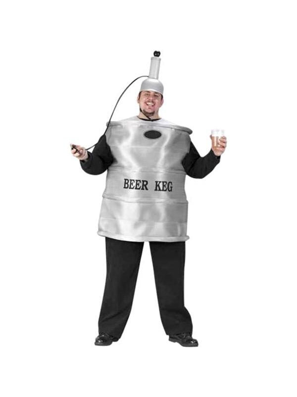 Adult Plus Size Beer Keg Costume-COSTUMEISH