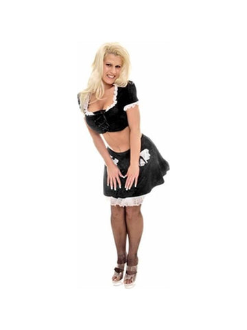 Adult Crop Top French Maid Costume-COSTUMEISH