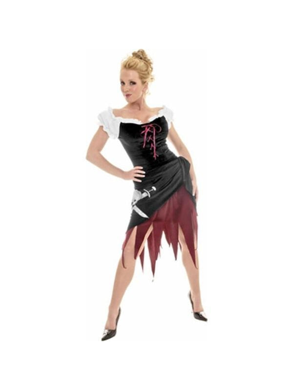 Adult Embroidered Hip Pirate Wench Costume-COSTUMEISH