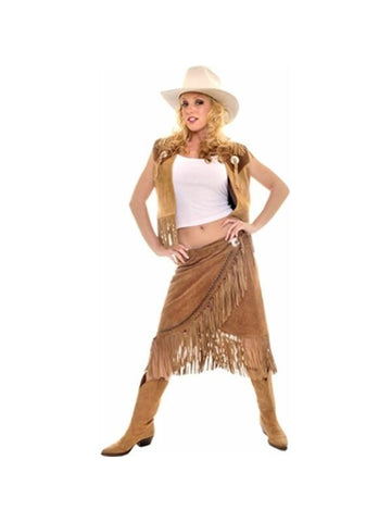 Adult Leather Cowgirl Costume