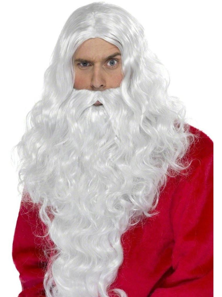 Adult Deluxe Santa Claus Beard & Wig Set-COSTUMEISH