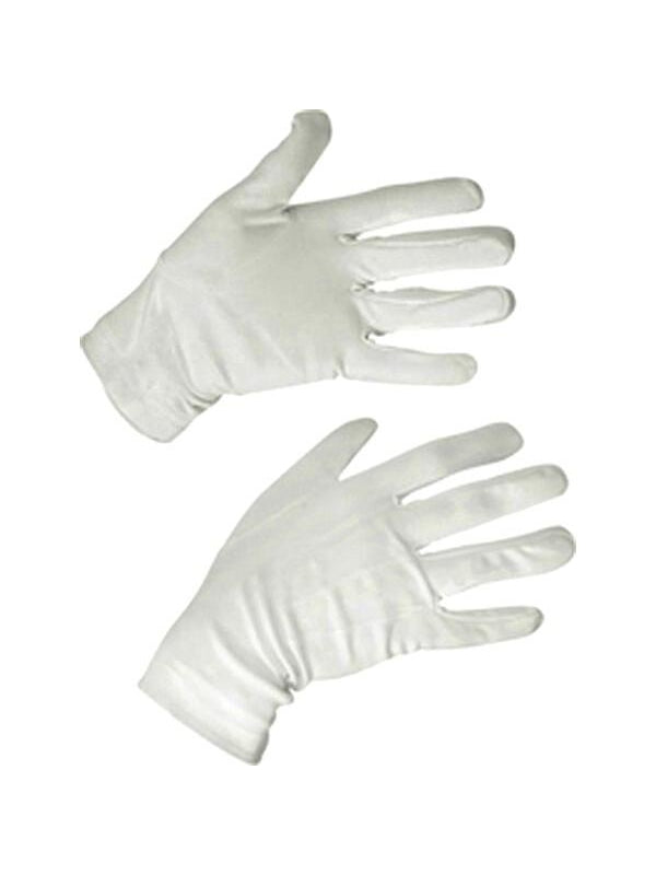 White Costume Gloves-COSTUMEISH