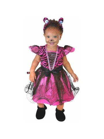 Baby Pink Tiger Costume Dress-COSTUMEISH