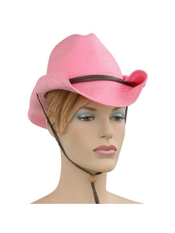 Adult Pink Cowgirl Hat-COSTUMEISH