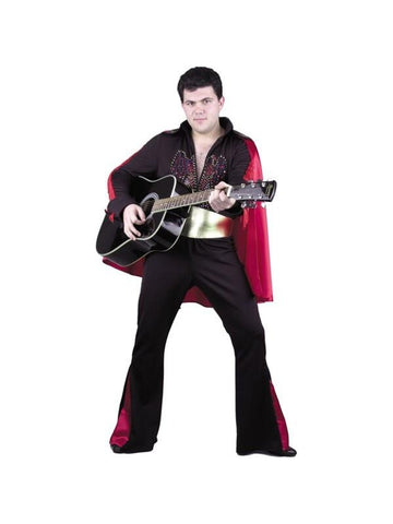 Adult Black Rock Star Costume-COSTUMEISH