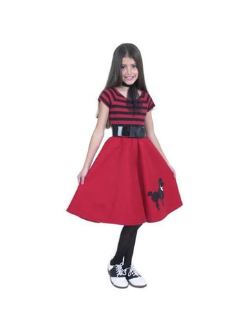 Child's Red Poodle Dress Costume-COSTUMEISH