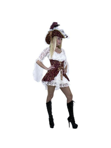 Adult White Lacey Pirate Lady Costume