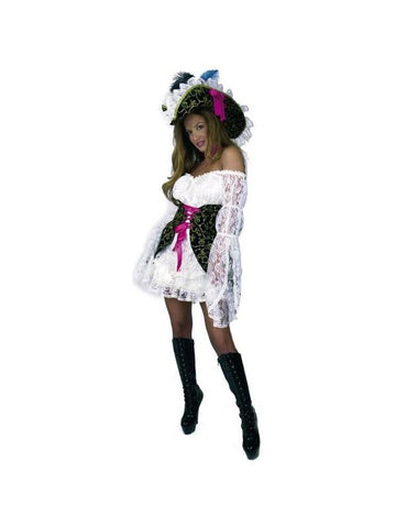Adult Lacey Pirate Lady Costume-COSTUMEISH