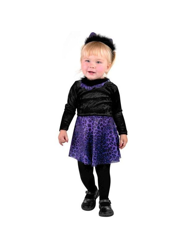 Toddler Purple Cat Girl Dress Costume-COSTUMEISH