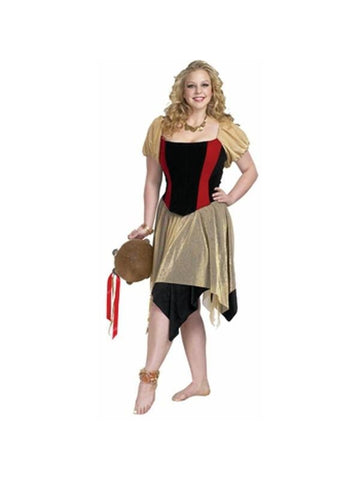 Adult Plus Size Gypsy Costume-COSTUMEISH