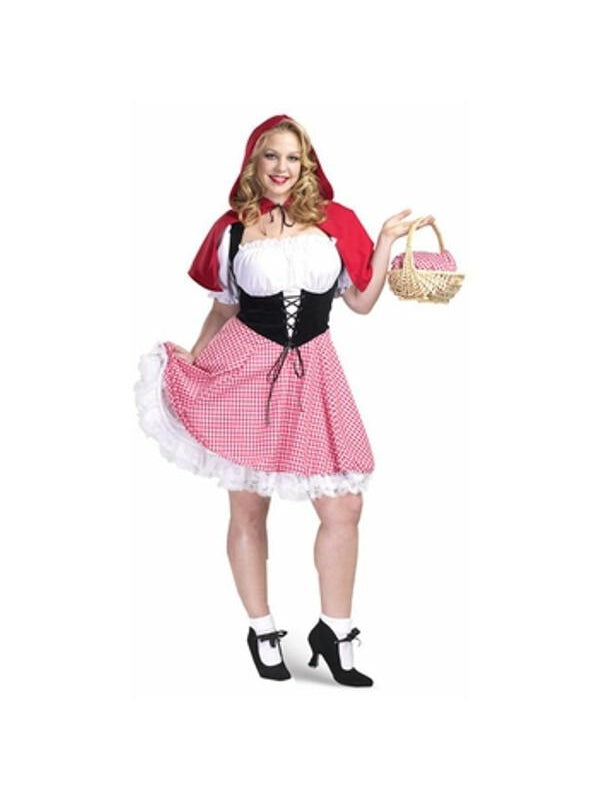 Adult Plus Size Sexy Red Riding Hood Costume-COSTUMEISH