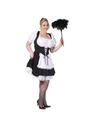 Adult Plus Size Chambermaid Costume-COSTUMEISH