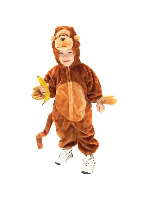 Toddler Plush Monkey Costume-COSTUMEISH