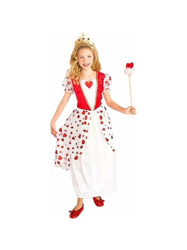 Childs Princess Queen Of Hearts Costume-COSTUMEISH