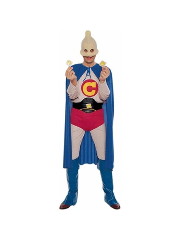 Adult Condom Man Costume-COSTUMEISH