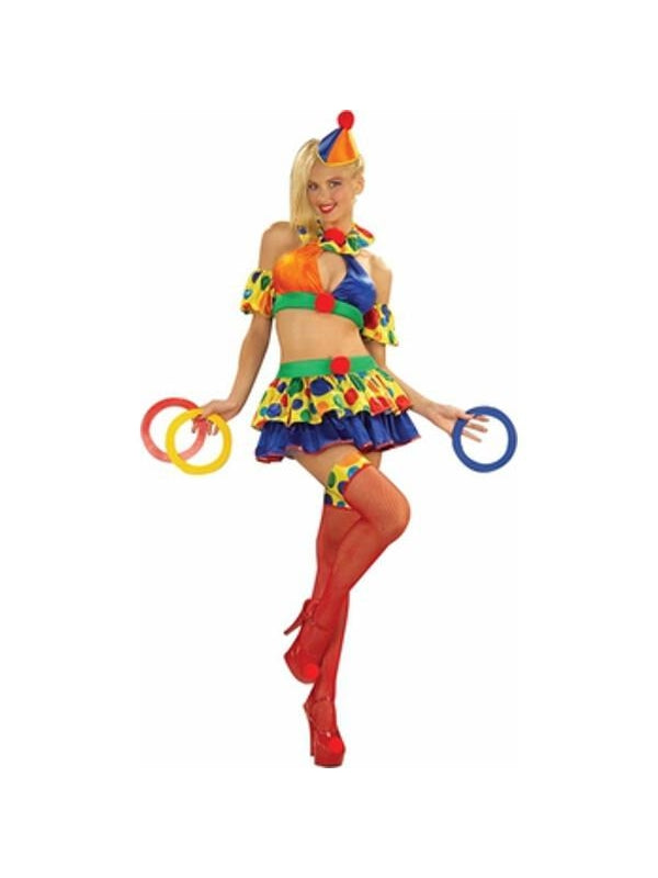 Adult Sexy Clown Costume-COSTUMEISH