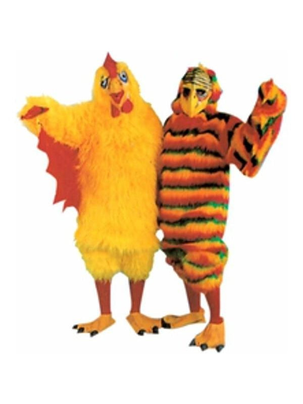 Adult Deluxe Chicken Suit Costume-COSTUMEISH
