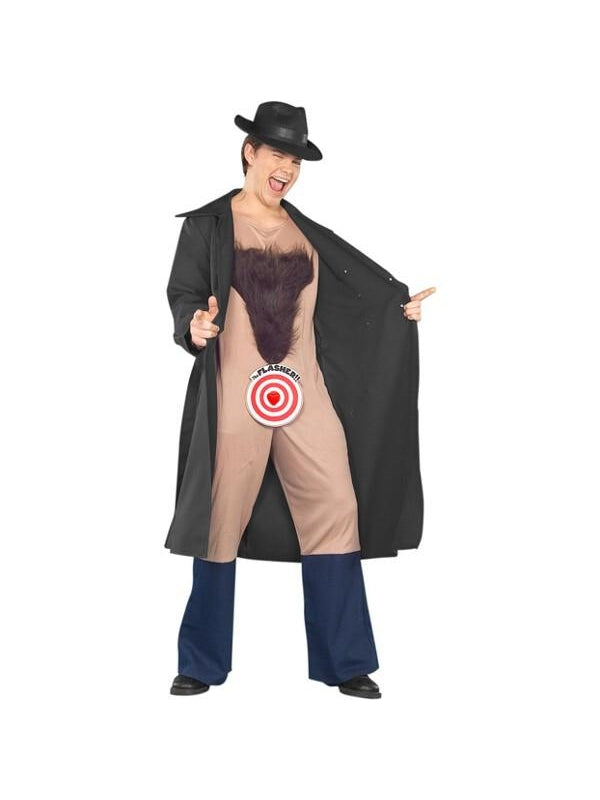 Adult Flasher Costume-COSTUMEISH