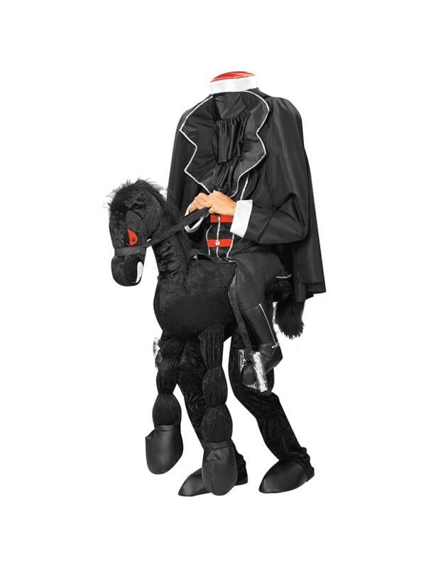 Adult Headless Horseman Costume W/ Horse-COSTUMEISH