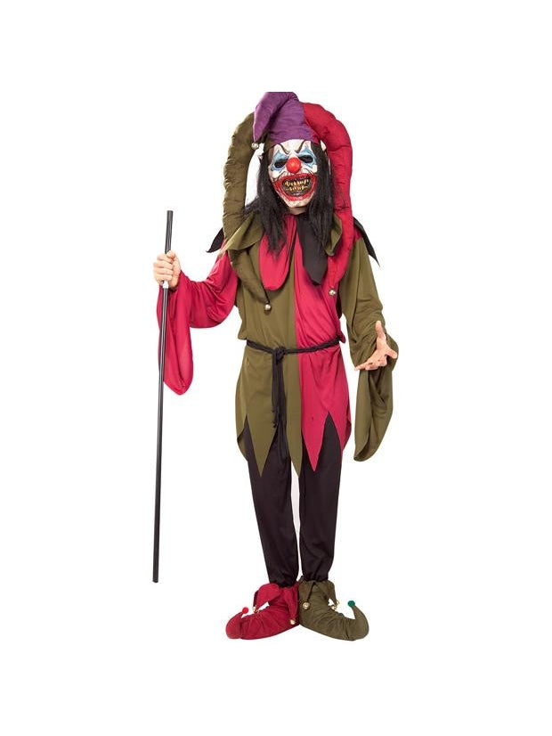 Adult Scary Clown Jester Costume-COSTUMEISH