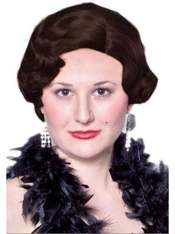 Black Roaring 20's Flapper Wig-COSTUMEISH