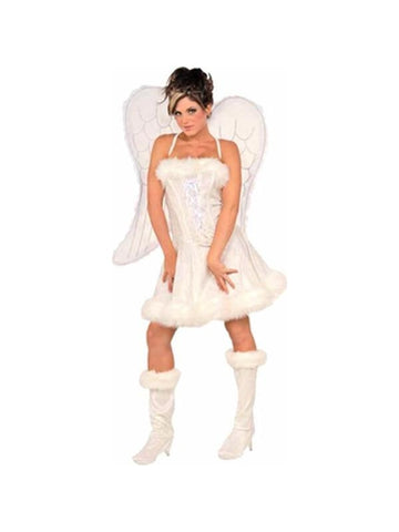 Adult Heavenly Angel Dress Costume-COSTUMEISH