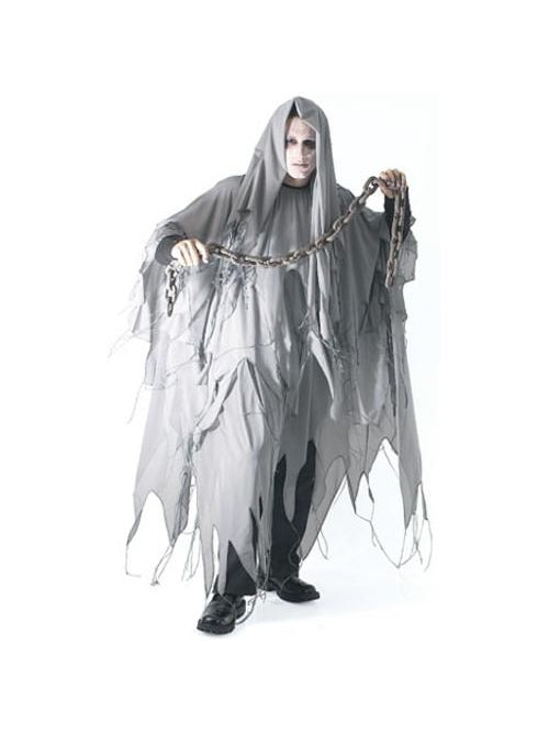 Adult Grey Ghost Costume-COSTUMEISH