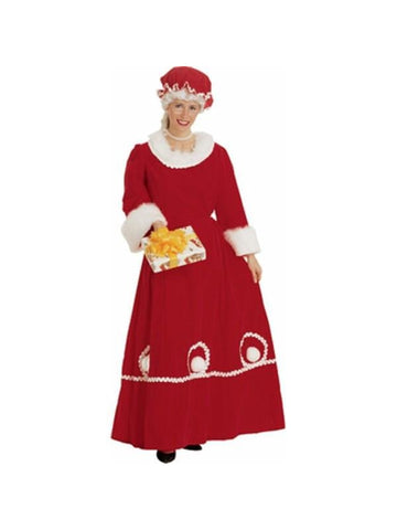 Adult Deluxe Mrs. Clause Costume-COSTUMEISH