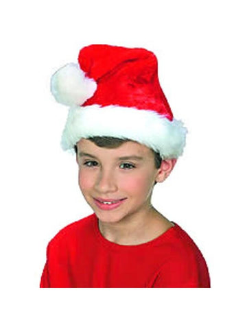 Child's Plush Santa Hat